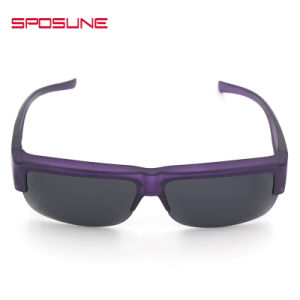Stark Purple Frame Clip on Sunglasses UV Protective Driving Fishing Eyewear pictures & photos