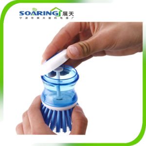 Kitchen Plastic Cleaning Brush for Dish, Pan and Pot (ZT10011) pictures & photos