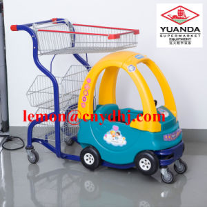 Supermarket Children Baby Plastic Toy Shopping Hand Cart pictures & photos