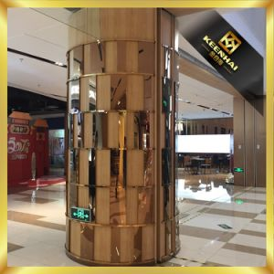 Decorative Etched Finish Architectural Metal Column Covers pictures & photos