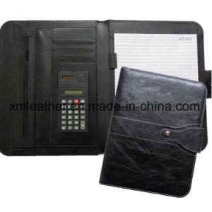 Luxury Black Leather Agenda Portfolio Briefcase for Business pictures & photos