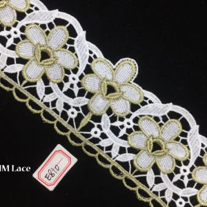 8cm Asstd Cream Vintage Gold Lace Ribbon for Decorating, DIY, Floral Designing & Crafts Hme810 pictures & photos