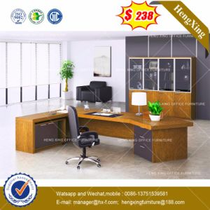 Chrome Metal Base Glass Manager Office Table /Desk (HX-8NE018C) pictures & photos