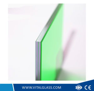 Euro Grey/Blue/Green/Bronze/Colored Reflective Laminated Glass for Decoration pictures & photos