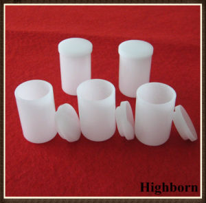 Top Selling Milky White Cylindrical Quartz Crucible with Lid pictures & photos