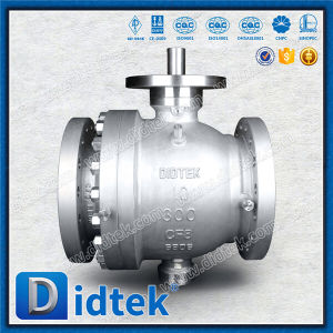 Didtek 2 Piece CF8 Stainless Steel Worm Gear Metal Seated Trunnion Valve pictures & photos
