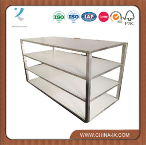 Metal and Wooden Clothes Display Rack and Shelf pictures & photos