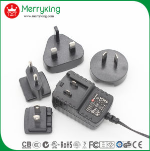 5V 2A Interchangeable AC DC Adaptor with Us, EU, UK and Au Plugs pictures & photos