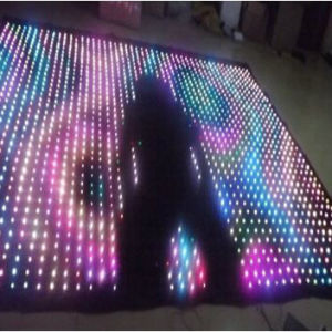 LED RGB 3in1 Full Color Video Cloth /LED Vision Curtain P10cm pictures & photos