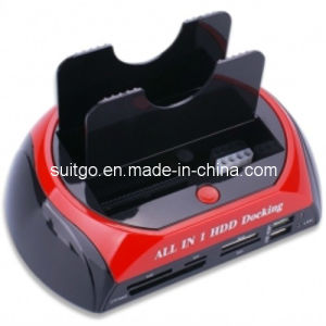 Hot-Sale USB2.0 Red and Black Multi-Function HDD Docking Station (SG-875)