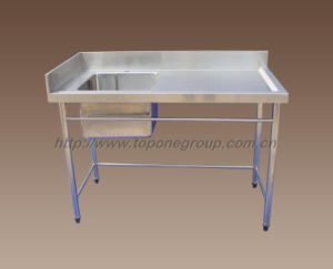 Stainless Steel Work Table With Splashback and Dishwasher