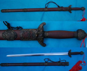 Chinese Sword Jian/Longquan Double Edge Sword