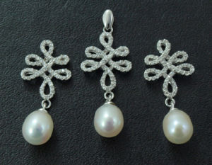 925 Sterling Silver + Freshwater Pearl Set (WSHPA00453) pictures & photos