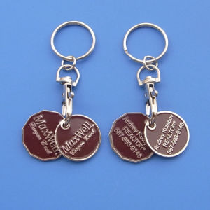 Canada Grocery Shopping Cart Trolley Coin Token Keyring pictures & photos