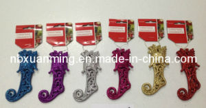 Christmas Glitter Boots (XM-C-1014) Glitter Christmas Ornament pictures & photos