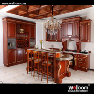 2016 Welbom Cream Color L Shape Oak Kitchen Cabinet pictures & photos