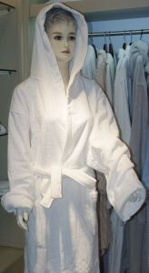 Velour Bathrobe with Hat pictures & photos