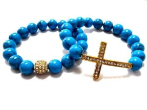 Fashion Jewelry Turquoise Shambala Bracelet (FC-10888A)