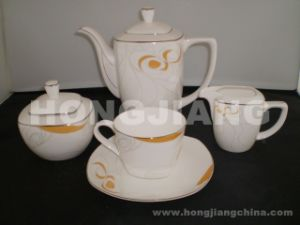 Bone China Tes Set (HJ068014) pictures & photos
