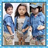 Children Clothes Cool Denim Coat (Hz015)