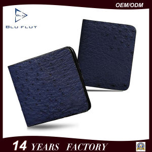 Customized Logo Design Genuine Ostrich Leather Men Wallet pictures & photos
