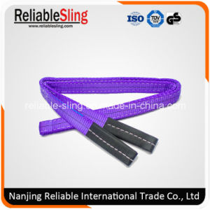 Heat Resistant Polyester Flat Belt Type Color Code Webbing Sling for Crane pictures & photos