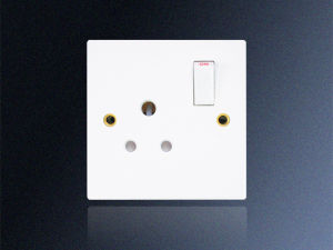 1 Gang 5 AMP Round Pins Switched Socket