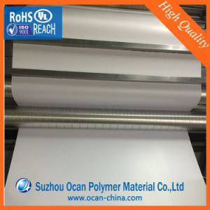 1mm Glossy White Plastic PVC Rigid Sheet for Vacuum Forming 3D Wall Panel pictures & photos