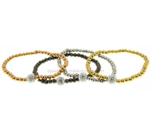 Imitation Jewelry, Fashion Jewelry, Quality Jewelry, Bead Bracelet, Elastic Bracelet, Gold Plated Bracelet (TXB-20260)