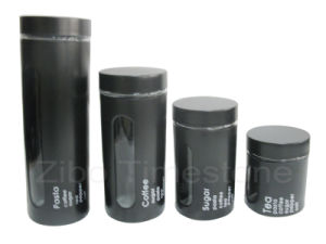 Glass Canister Inner With Stainless Wrap pictures & photos