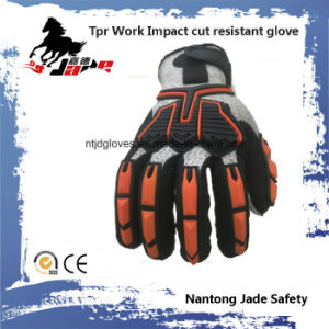TPR Work Cut Resistant Imapct Glove pictures & photos
