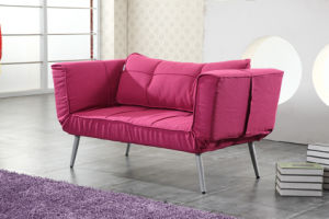 High Armrest Fashion Design Two Folded Sofa Bed pictures & photos