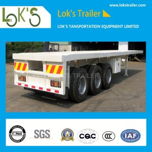 40 Feet 3axles Platfrom Container Cargo Truck /Tractor Semi Trailer pictures & photos