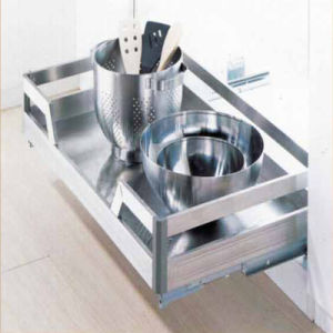 Pull Roll out Wire Drawer Kitchen Cabinet Basket Lbb-813 pictures & photos