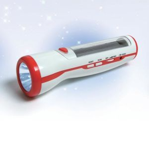 Solar Radio Rechargeable LED Torch (LVC-285A)