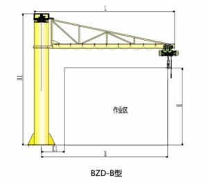 Model Bzd-B Pillar Type Jib Crane