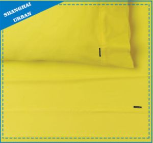 Solid-Style: Bright Yellow Cotton Bed Sheet pictures & photos
