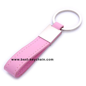 Souvenir Promotion Rectangle PU Gift Leather Key Holder (BK21475) pictures & photos