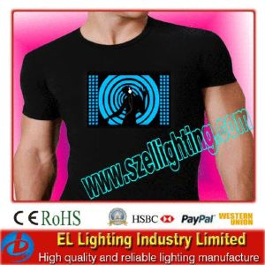 EL Shinning T-Shirts Sound Sensor EL T-Shirt