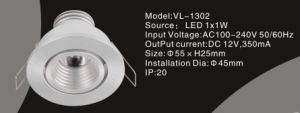 Hotel LED Light (VL-1302) 1*1W