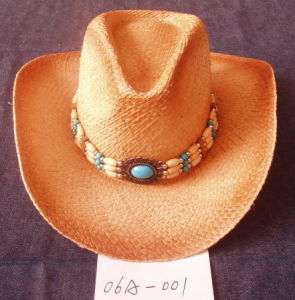 Western Straw Cowoby Hat Cowboy Hat (06A-001) pictures & photos