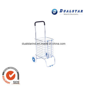 Aluminum Material Portable Folding Shopping Cart Trolley pictures & photos