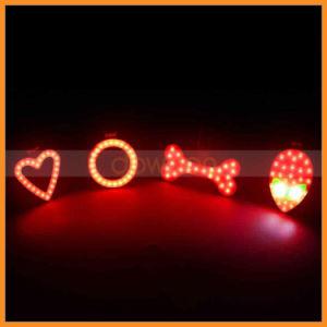 Heart Bone Shape USB Charging Rear Tail LED Bike Light pictures & photos