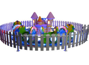 Green Little Train with Yellow Castle Kids Fun Rides pictures & photos