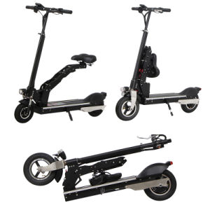 Portable Two Wheels Electric Folding Kick Scooter with Saddle pictures & photos