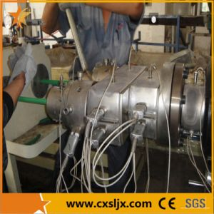 Standard Two Cavities Electrical PVC Pipe Extrusion Line pictures & photos