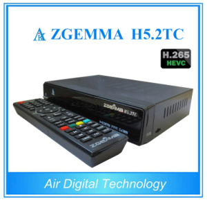 Faster and Powerful Zgemma H5.2tc Hevc H. 265 DVB-S2+2*DVB-T2/C Satellite TV Receiver pictures & photos