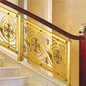Antique Brass Aluminum Alloy Staircase Railing pictures & photos