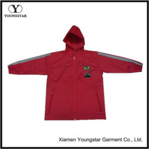 Boys Red Raincoat Lightweight Waterproof Reflective Rain Jacket pictures & photos