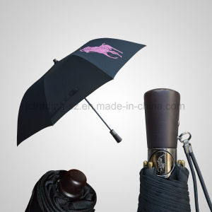 2 Folding Wooden Handle Automatic Top Rain/Sun Umbrella (JF-APO202) pictures & photos